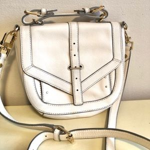 Tory Burch 797 Pouch Ivory Leather Cross Body Bag